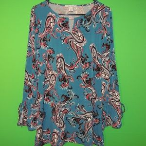White House Black Market Womens S Long Slv Top